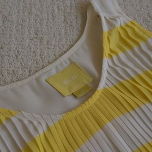 Maeve Tops - Maeve Striped Yellow Blouse